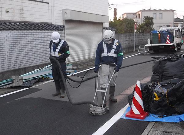 道路洗浄作業